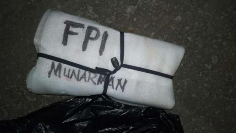 "Gegana Amankan Benda Bertuliskan ""Munarman FPI"""